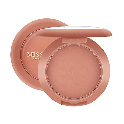 HYIRI Improve temperament MISS ROSE Colors Blush Red Smooth Dull Blush Naturally Brighten Complexion Rouge