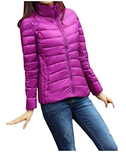 Compattabile Alla Di Colletto donne Giù Leggere Viola Giacche Più Coreana Invernale Howme Formato Ultra EAwqpZ