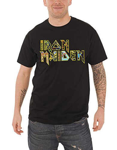 Iron Maiden T Shirt Eddie Band Logo Album Montage Official Mens Black Size - T-shirt Official Xxl