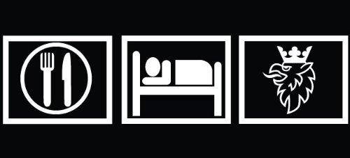 2 x Eat Sleep Saab8.5x2.2