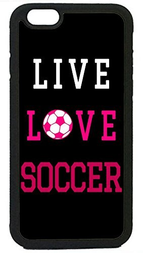 - THE FORTRESS Premium cases -Soccer Girl Pink Futbol Ball Quote Rubber Silicon Black Case Cover for NEW iPod 6 6th Gen by FOR8 (4.7 inch)The perfect blend of minimalism and shock absorbtion