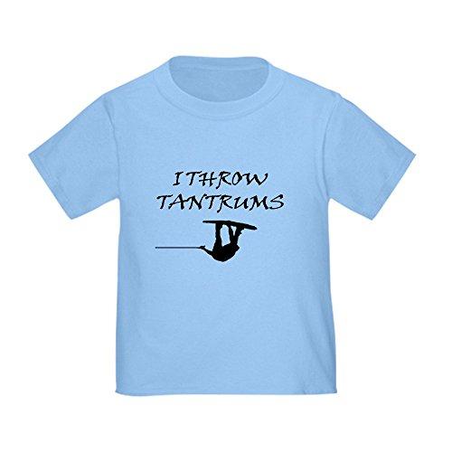 CafePress Tantrums T Shirt Cute Toddler T-Shirt, 100% Cotton Baby Blue