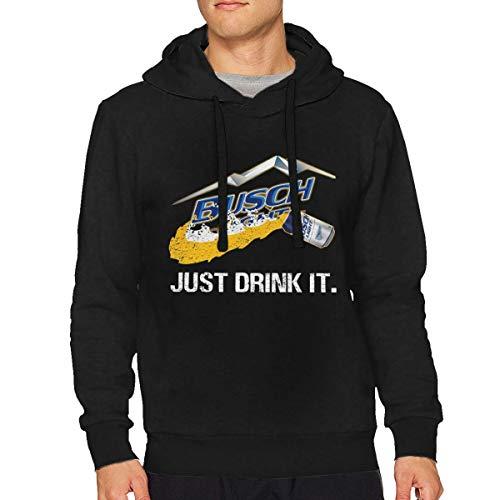 Sbbiegen886wo Men's Just Drink It Busch Light Breathable Hoodies XL -