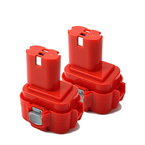 Creabest 9.6V 3.0Ah Ni-MH Battery Replacement for Makita PA09 9100 9120 9122 9133 9134 9135 9135A Replacement Makita 9.6V Power Cordless Drill Tool Battery(2 Packs) by Creabest