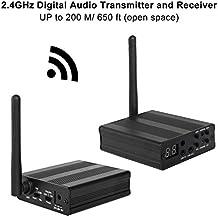 TP-WIRELESS 2.4GHz Digital Wireless HDCD Audio Adapter Music Sound Transmitter and Receiver Kit (650ft 1 Transmitter and 1 Receiver)