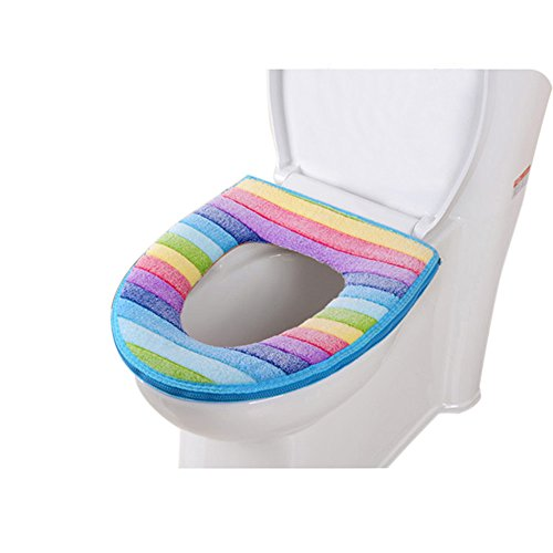Taosheng Comfortabele toiletzitting Zachte Doek Wasbaar Deksel Top Cover Pad Badkamer Warmer Winter Toilet Seat Cover…