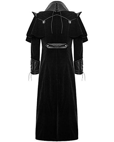 Hommes - Manteau long noir steampunk gothique vintage régence bandit de grand chemin punk rave