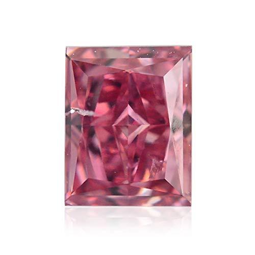 Leibish & Co 0.24 Carat Fancy Intense Pink Loose Diamond Natural Color Radiant Cut GIA Cert
