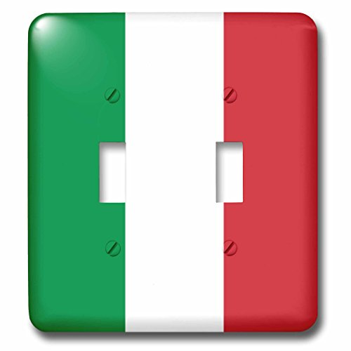 3dRose lsp_158341_2 Flag of Italy Square Italian Green White Red Vertical Stripes European Europe World Travel Souvenir Light Switch Cover by 3dRose