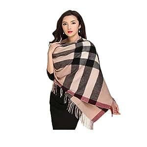 MUZIWENJU Wool Scarf, Ladies Winter Shawl Scarf, (Optional in Two Colors) (Color : Beige)
