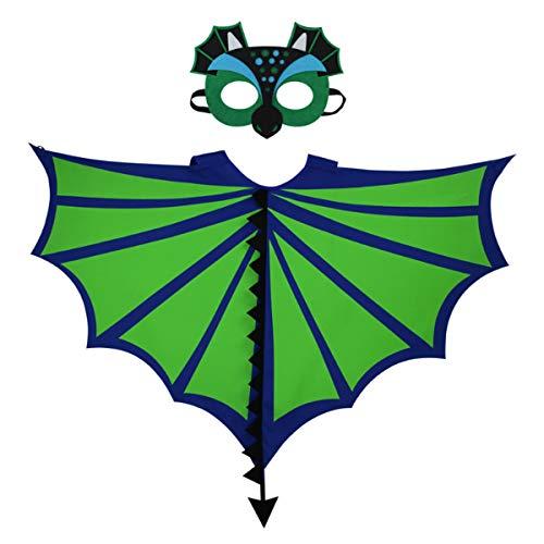 Felice Kids Dragon Wings Pteranodon Dinosaur Wings Mask Set Costume Wing Accessories