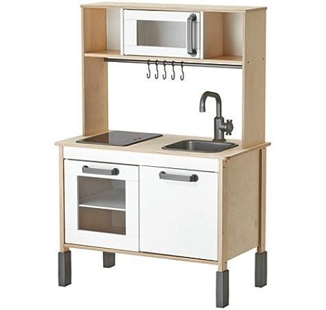 DUKTIG - Cocina de madera para niños a partir de 3 años, 72 x 40 x 109 cm: Amazon.es: Bricolaje y herramientas