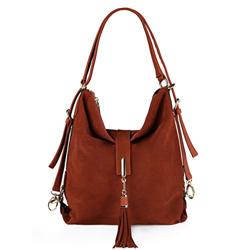 Brown Messenger Firstider Light Women Eisure Hobo Leather Bag Suede Shoulder Nubuck Handbag PfwHPCq7z