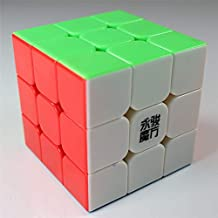 Elloapic Stickerless YongJun YJ Yulong 3x3x3 Speed Cube Puzzle Smooth Cube + one cube stand