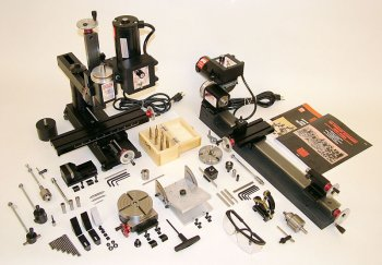 6200 - Ultimate shop package, inch w/deluxe 4400 lathe, 2000 mill and accessories, inch