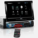 BOSS Audio BV9976B Car DVD Player - Single Din, Bluetooth Audio and Calling, Built-in Microphone, CD-USB-SD-Aux-In-Am FM Radio Receiver, 7 Inch Digital LCD Display, Multi-Color Illumination