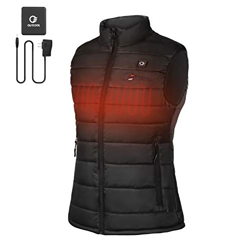 OUTCOOL Women's Heated Vest Lightweight Slim Fit Insulated Heating Winter Vest [Type: NMJ1802] (M) ()