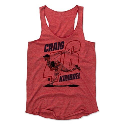 500 LEVEL Craig Kimbrel Women's Tank Top Small Red - Boston Baseball Women's Apparel - Craig Kimbrel Outline R