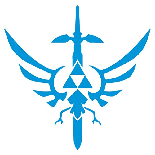 Legend of Zelda Triforce Mastersword   Premium Waterproof Vi