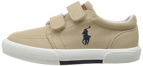 Polo Ralph Lauren Kids Boys' Faxon II Sneaker, Khaki Cotton, 10 M US Toddler by Polo Ralph Lauren (Image #5)