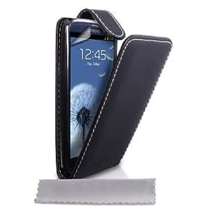 Bloutina Samsung Galaxy S3 i9300 Black PU Leather Flip Case