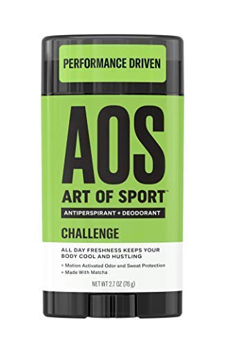(Art of Sport Men's Antiperspirant Deodorant Stick, Challenge Scent, Athlete-Ready Formula with Matcha, 2.7 oz)
