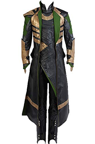Cosplaysky Loki Costume Halloween Outfit The Dark World Version Large]()