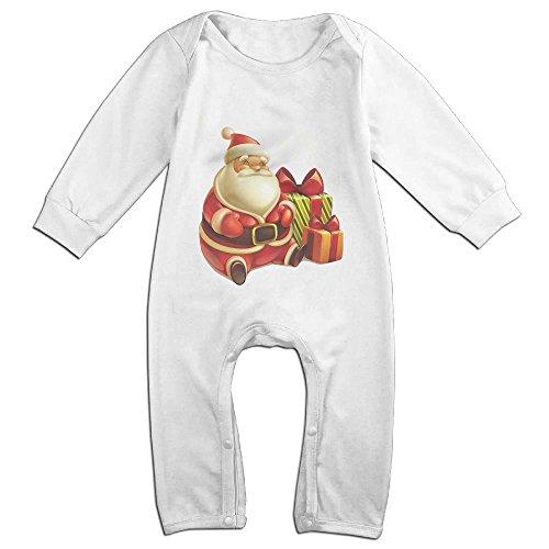 FE111 Baby Rompers Fat Cute Santa Claus Coverall Romper Unisex Bodysuit Clothes (Quarter Fat Club)