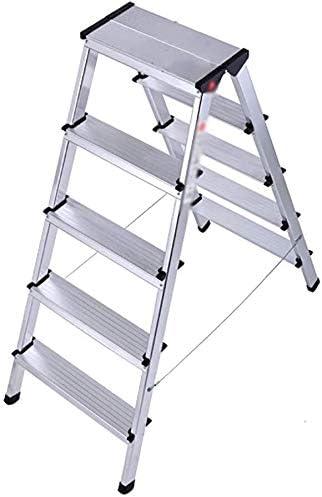 IVHJLP Ingeniería Escalera, Escalera plegable Escalera plegable de 5 pasos de escalera de aleación de aluminio grueso escalera plegable, al aire libre casero de múltiples funciones de doble paso, Lige: Amazon.es: Bricolaje