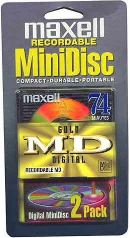 B00000G2L6 MAXELL GMD-74/2 Gold Recordable Mini Discs (Discontinued by Manufacturer) 41NAK0KT4BL