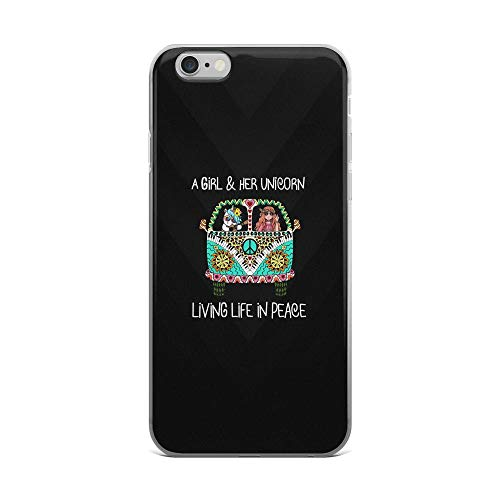 - iPhone 6 Plus/6s Plus Pure Clear Case Cases Cover a Girl and Her Unicorn Living Life in Peace Vintage Funny Quote