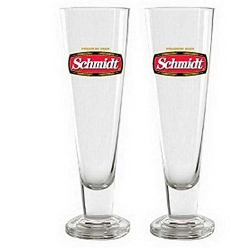 Officially Licensed Schmidt Beer Tall Pilsner Glass (Schmidt Beer Glasses)