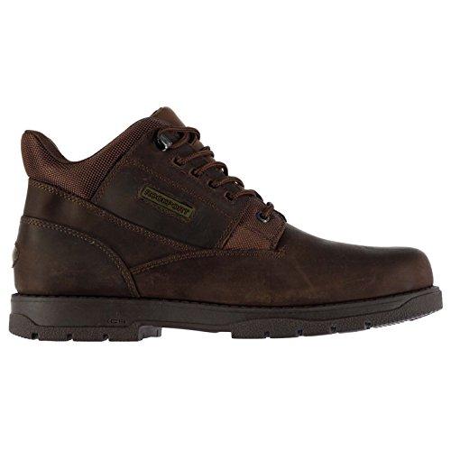 Rockport Hombre Plain Botas adiprene XCS Cordones Cuero Puntada Tobillo Zapatos Marron