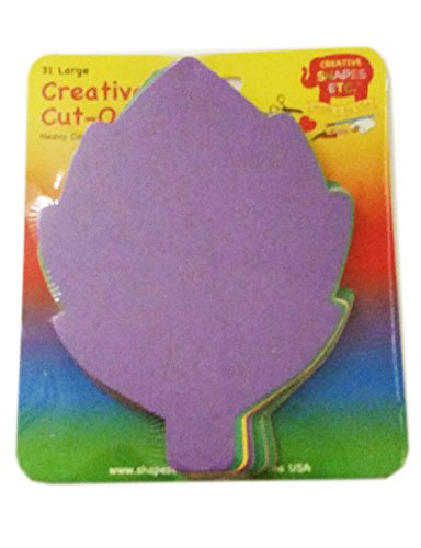 Leaf Large Assorted Color Creative Cut-Outs, 5.5