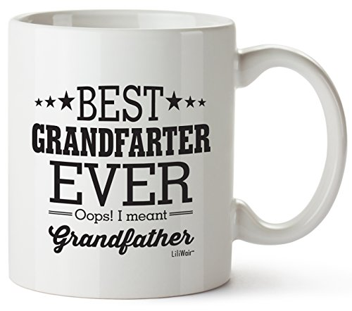 Fathers Day Gifts For Grandpa For Great Grandpas Gift Christmas Fathers Day Gifts Best Father's Grandfarter Ever Coffee Mug Funny Cool Prime Paw Paw Poppy Unique Pop Pops Novelty Fun Xmas Gag Mugs
