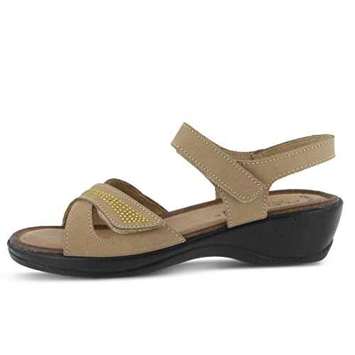 Womens Flexus Caric Essentials Taupe Sandal qwRYwd