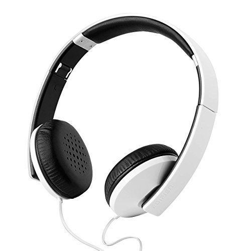 (Edifier H750 Hi-Fi On-Ear Headphones - Foldable Stereo Headphone - Glossy White with Carrying Pouch)