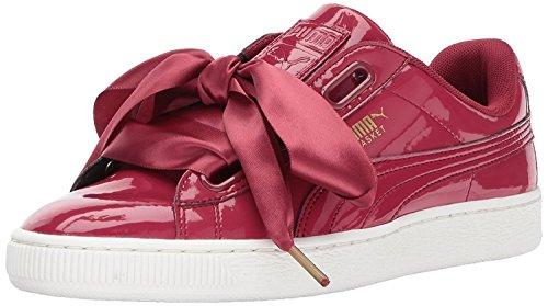 PUMA Women's Basket Heart Patent Wn, Tibetan Red-Tibetan Red, 9 M US (Bow Platform Side Lace)