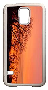 Galaxy S5 Case Cases Customized Gifts Cover Dawn tree View Design - Ideal Gift