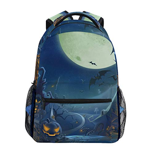 Halloween Town Backpacks College School Book Bag Travel Hiking Camping Daypack