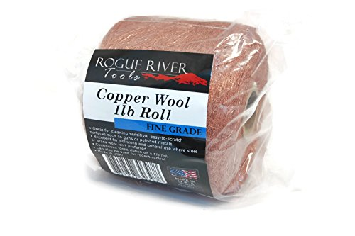 Copper Wool 1lb Roll (Fine Grade) - Made in USA! by Rogue River Tools