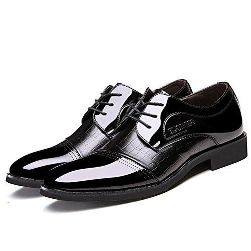 Hommes Chaussures PU Printemps Automne Chaussures Formelles Oxfords Split Joint pour Bureau & Carrière Party & Soir Noir Noir Bleu Black 4k8IcvixV
