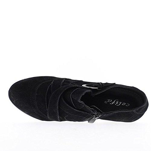 Richelieux donna Nero 8cm tacco e mini piattaforma