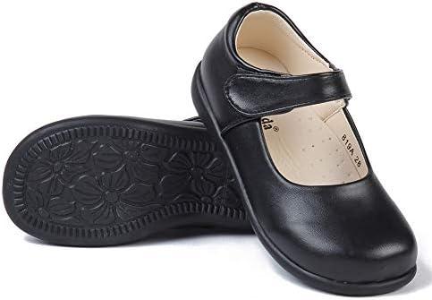 MK MATT KEELY Girls School Uniform Leisure Leather Shoes Mary Jane Princess Shoes Black