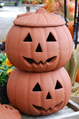 Home Comforts Peel-n-Stick Poster of Clay Jack-o-Lanterns Halloween