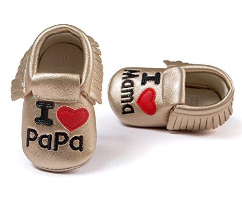s7- Babyschuhe Neugeborene Ti Amo Papa Ti Amo Mutter TG.3(9–