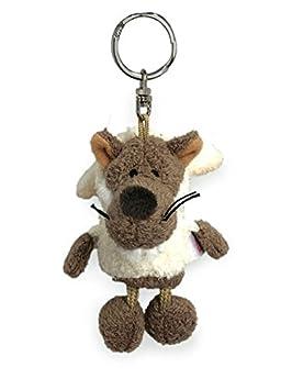 Nici 28070 - Llavero de peluche con forma de lobo (10 cm)