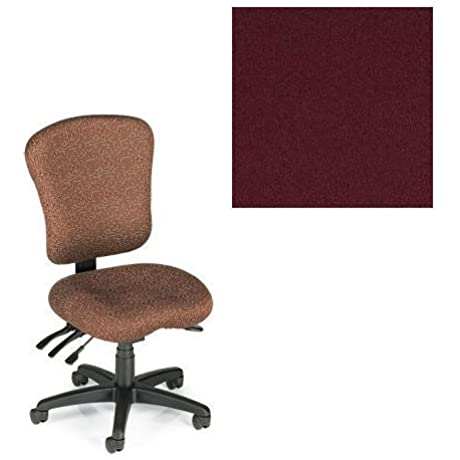 Office Master PA Collection PA55 Ergonomic Superior Task Chair No Armrests Grade 1 Fabric Celestial Hyperion Red 1207 PLUS Free Ergonomics EBook