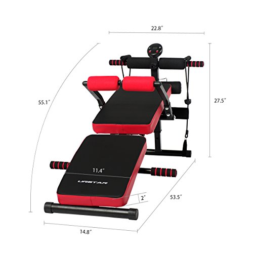 Buy Sit Up Incline Decline Work Bench Situp Dumbbell Bar: Multi-Purpose Sit Up Bench With Waist Back Support