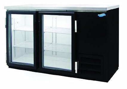 Back Bar Bottle Coolers, Refridgerant, 2 Glass Doors With 4 Shelves, 14.5  Cubic